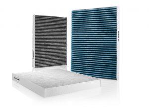 Unschlagbares Trio: das Innenraumfilter-Sortiment von Bosch