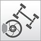 Dieses Bild zeigt das Symbol für die Baugruppeen Fahrwerk und Bremsen von Autos