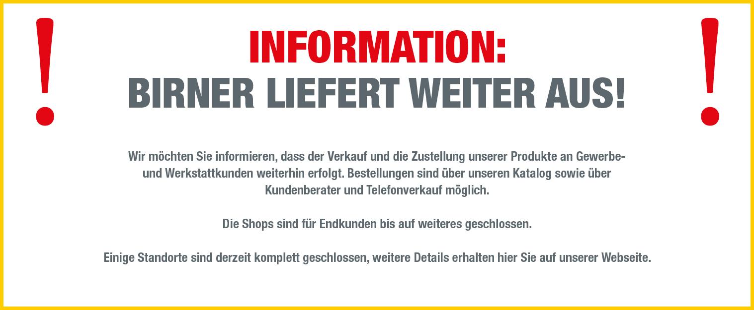 Information eingeschränkter Betrieb